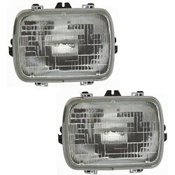 Headlight For 88-99 Gmc C1500 Pair Driver And Passenger Side