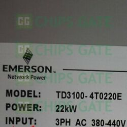 1pcs Used Emerson Frequency Converter 22kw 380v Td3100-4t0220e Fast Ship