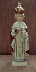 Vintage 10 Infant Of Prague Statue Hand Painted At Goebel In Germany