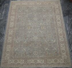 Floral Light Tone With Brown Accent Peshawar Rug 9 X 12 Gray Wool Oushak Rug