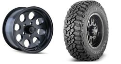 17x9 Ion 171 Black Wheel And Tire Package 5x5 Jeep Wrangler Jk Jl Grand Cherokee