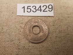 1936 British West Africa 10th Penny Collector Grade Raw Album Coin - 153429