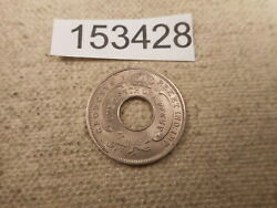 1936 British West Africa 10th Penny Collector Grade Raw Album Coin - 153428