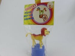 Vintage Squeeky Push Button Animal Jungle Lion 4053a Toy. Sealed Bnib
