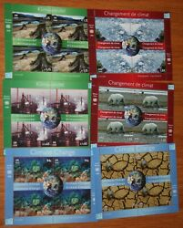 United Nations NY Geneva Vienna 2008 Climate Change MNH Sheets of Four Set