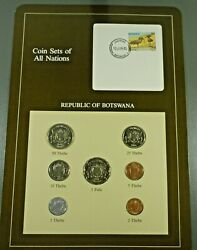 Coins Of All Nations Bu Set - Botswana Free Shipping