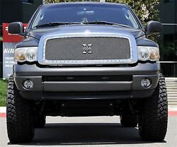 Fit 09-10 Dodge Ram 1500 Stainless Steel Polished Chrome Stud Mesh Grille Insert