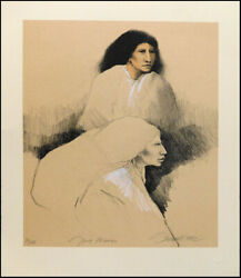 Frank Howell Two Women '92 Original Fine Art Lithograph Hand Signed Submit Offer