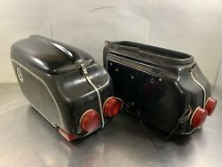 Vintage Bmw Left And Right Hard Side Cases Luggage Panniers Airhead Possibly Aldo