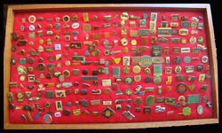 Lot Of 230 Pins Advertisements Sports Cars Aviation A Rare Collection