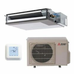 Mitsubishi - 9k BTU Cooling + Heating - M-Series Concealed Duct Air Condition...