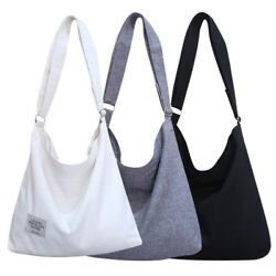 Women Canvas Hobo Crossbody Shoulder Tote Bags Large Pouch Travel Shopping Bag $15.39