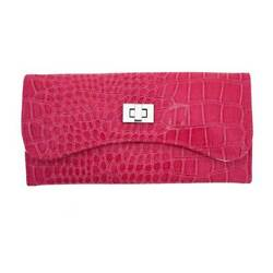 Mele Travel Case Jewelry Bag Faux Leather Raspberry Pink Clutch Storage Case $21.00