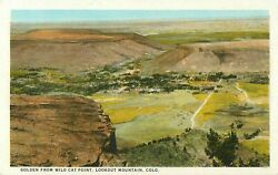 c1915 Golden From Wild Cat Point Lookout Mountain Colorado Postcard