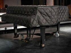 Steinway Black Quilted Grand Piano Cover With Side Slits For 8'11-3/4 Model D