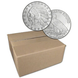 1 oz. Highland Mint Silver Round Incuse Indian Design .999 Sealed Box of 500