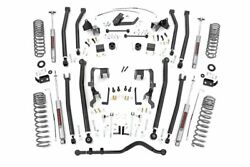 4in Long Arm Suspension Lift Kit for Jeep 07-11 Wrangler JKU 4-Dr Rough Country