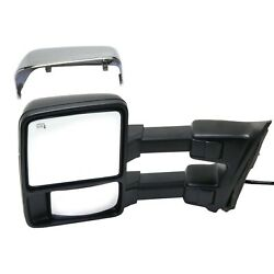 Tow Mirror For 2010 2016 Ford F450 Super Duty Left Side Power Fold Heated Glass