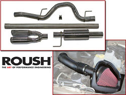 2011-2014 Roush Ford F-150 Svt Raptor 6.2l Exhaust And Cold Air Intake Kit
