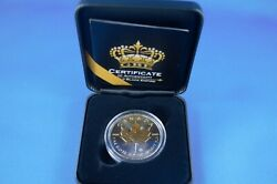 2019 - Black Empire - 1 Oz Silver Maple Leaf - With Ruthenium And 24 Kt Gold