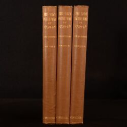 1920 3vol Navy In The War Of 1739-48 Richmond Very Scarce First Edition Illustra