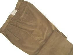 New 179 Orvis Stretch Super Cords Pants 32 Pleated Front Light Brown