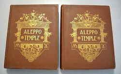 History Of Aleppo Temple Masonic Shriners 1915 Two Volumes 1st And Only Edition