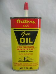 Outers Gun Oil 445 3 Oz Can Sealed Unopened Uncut, Vintage Onalaska Wis Usa