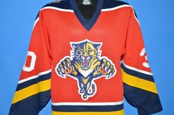 Vintage 90s Florida Panthers Vanbiesbrouck Red Mesh Jersey Nhl Hockey Small S