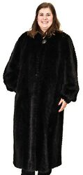Black Mink Fur Tails Chevron Design 52