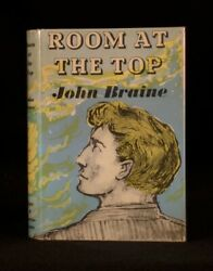 1957 Room At The Top John Braine First Edition In Dustwrapper Signed Card