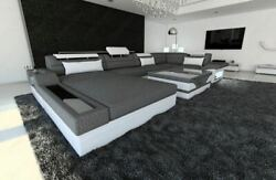 Modern Sectional Fabric Sofa Orlando U Shape with LED Lights