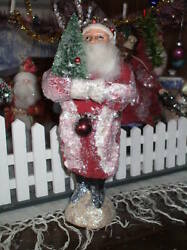 10 German Antique Style Christmas Belsnickle Santa Candy Container Baskettree