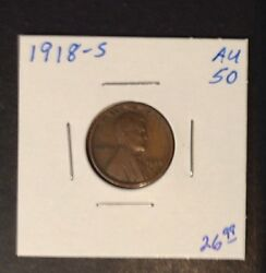 1918-s 1¢ Lincoln Wheat Penny Cent San Francisco Mint