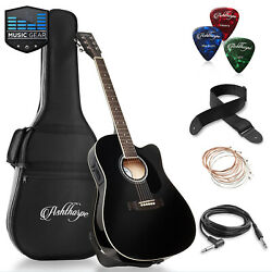 Full-size Cutaway Thinline Acoustic-electric Guitar With Gig Bag And Eq