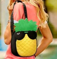 New Victorias Secret PINK Summer PINEAPPLE Cooler Bag Lunchbox Lunch Box NWT