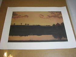 Usga Golf House Print Limited Edition 2000 Water Golfer Vintage Painting Water