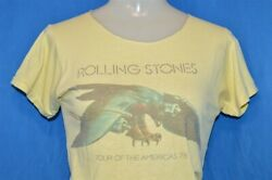 Vintage 70s Rolling Stones 1975 Tour Of The Americas Rock T-shirt Extra Small Xs