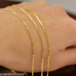 J.lee Pure 18inch 18k Yellow Gold Necklace 1.1mm Classic O Link Chain Necklace