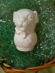 Unusual, Antique 1930, Usa Celluloid, Figural Two Color Puppy Dog, Rattle Toy