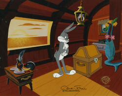 Bugs Bunny Looney Tunes Chuck Jones Signed 1997 Production Animation Cell