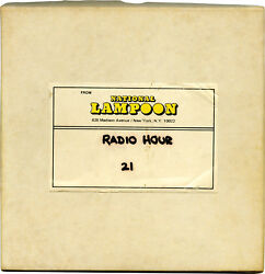 Michael O'Donoghue NATIONAL LAMPOON RADIO HOUR Archive of 26 #140609
