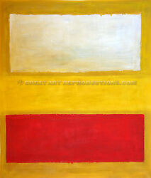 White Red On Yellow, Or No 13, Rothko Reproduction In Oil, 66x56