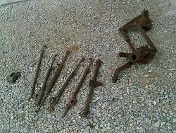 Farmall Cub Tractor Ih Cultivator Mounting Bracket And 5 Spring Load Hooks And Rea