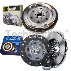 Sachs 3 Part Clutch Kit And Luk Dmf For Audi A4 Convertible 1.8 T Quattro