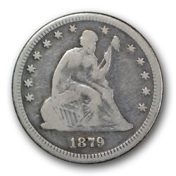 1879 25c Liberty Seated Quarter Very Good Vg Low Mintage R572