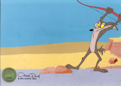 Wile E Coyote Looney Tunes Chuck Jones Signed 1994 Production Animation Cell