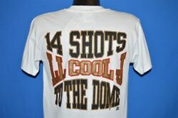 vintage 90s LL COOL J 14 SHOTS TO THE DOME RAP TEES DEADSTOCK t-shirt MEDIUM M
