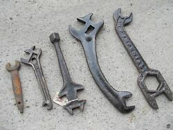 Vintage Tractor Implement 5 Ih Jd Ford John Deere Ac Wrenches Wrench Farmall