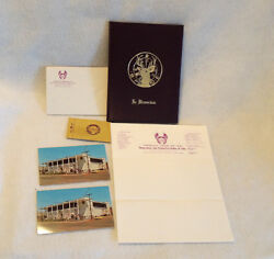 Vintage 10 Pc Lot 1960s B.p.o.e. Elks Club Lodge Stationery Postcards And More